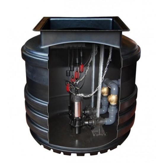 Mini Twin Pump Sewage Pumping Station 800L