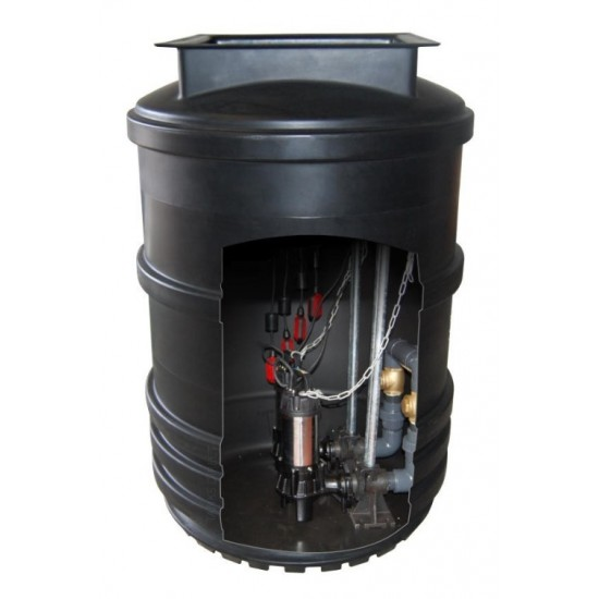 Mini Twin Pump Sewage Pumping Station 1200L