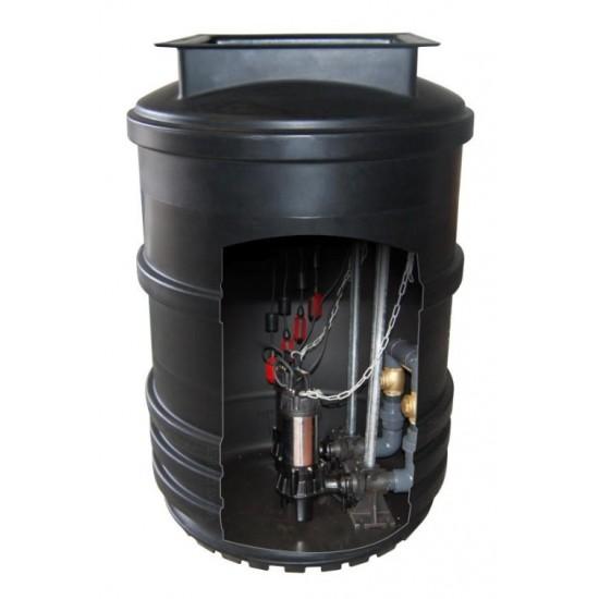 Mini Twin Pump Sewage Pumping Station 1700L